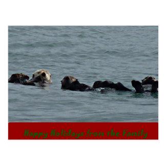 Una postal feliz del día de fiesta de Otterly