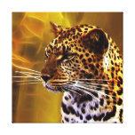 Una postura del leopardo impresiones en lona