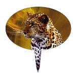 Una postura del leopardo palillos de tarta