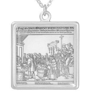 Una pregunta a un Mintmaker, c.1500 Colgante Cuadrado