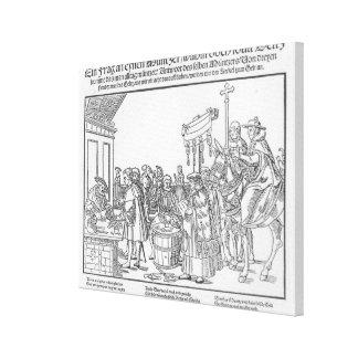 Una pregunta a un Mintmaker, c.1500 Impresiones En Lienzo Estiradas
