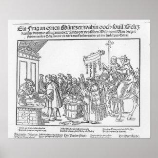 Una pregunta a un Mintmaker, c.1500 Póster
