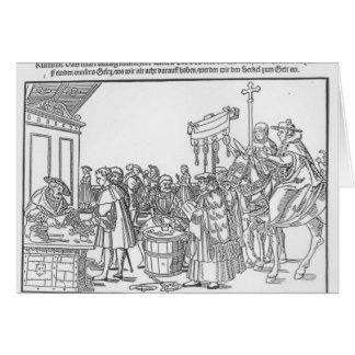 Una pregunta a un Mintmaker, c.1500 Tarjeta De Felicitación