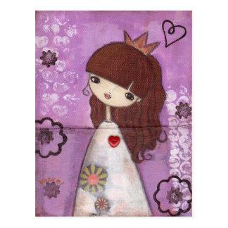 Una princesa Postcard Tarjeta Postal