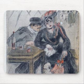 Una prostituta y su cliente tapete de raton
