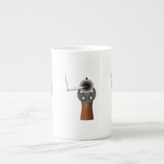 Una prueba clara tazas de porcelana