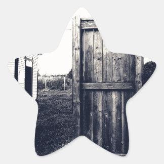 Una puerta al pasado pegatina en forma de estrella
