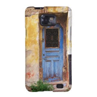 Una puerta azul vieja rústica hermosa en CRETA, Gr Galaxy S2 Funda