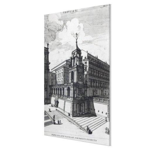 Una puerta de la entrada al Vatican, 1696 Impresion De Lienzo