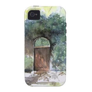 Una puerta - estado de la casa de Englis, Ann Arbo iPhone 4 Carcasa