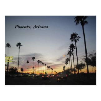 Una puesta del sol de Arizona Tarjetas Postales