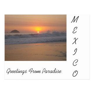 Una puesta del sol en México Tarjeta Postal