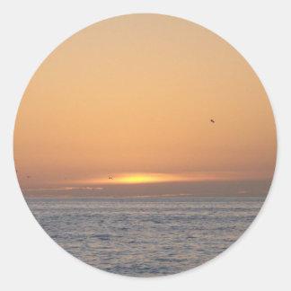 Una puesta del sol hermosa de la Florida Etiquetas Redondas