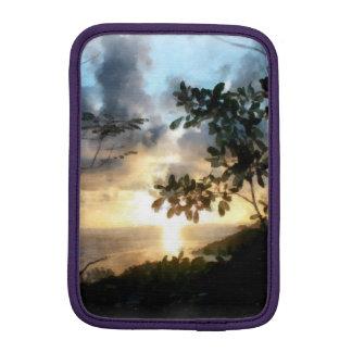 Una puesta del sol maravillosa y hermosa funda de iPad mini