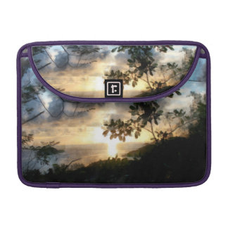Una puesta del sol maravillosa y hermosa funda para macbook pro