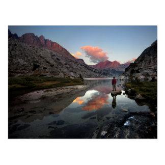 Una puesta del sol más baja 2 del lago palisade - postales