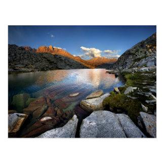 Una puesta del sol más baja del lago palisade - tarjeta postal