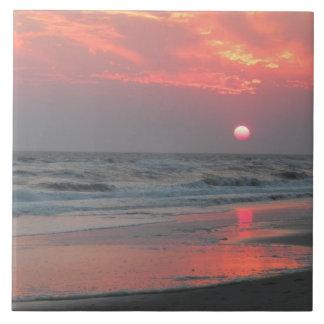Una puesta del sol perfecta azulejo cuadrado grande