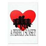 Una puesta del sol perfecta invitación 12,7 x 17,8 cm