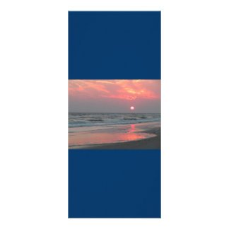 Una puesta del sol perfecta - isla del roble, NC Tarjetas Publicitarias