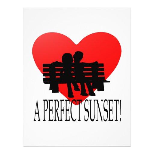 Una puesta del sol perfecta tarjetas informativas
