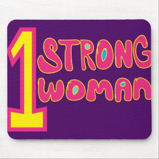 Una púrpura fuerte Mousepad de la mujer