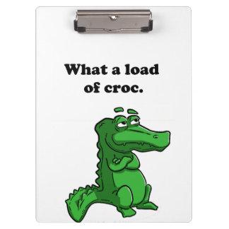 Una qué carga del dibujo animado del cocodrilo del
