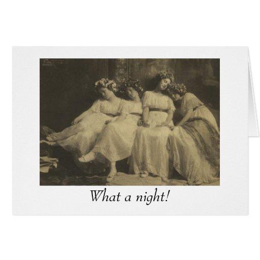 ¡Una qué noche! Tarjetas