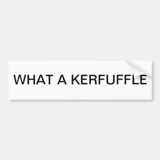 Una qué pegatina para el parachoques de KERFUFFLE Pegatina De Parachoque