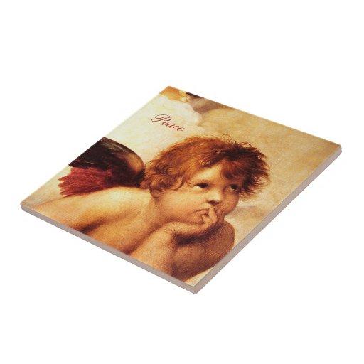 Una querube, detalle del Sistine Madonna - Raphael Teja