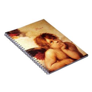 Una querube, detalle del Sistine Madonna - Raphael Notebook