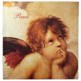 Una querube, detalle del Sistine Madonna - Raphael Servilletas De Papel