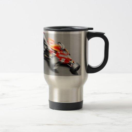 Una ráfaga de rápido taza de viaje de acero inoxidable