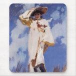 Una ráfaga del viento de John Singer Sargent Alfombrillas De Raton