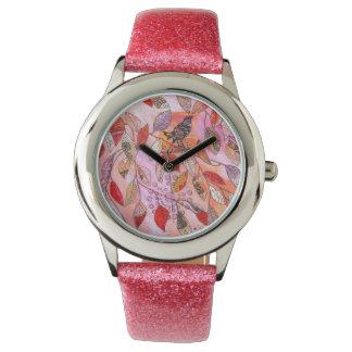 una rama muy rosada relojes de pulsera