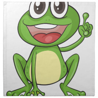 una rana servilletas imprimidas