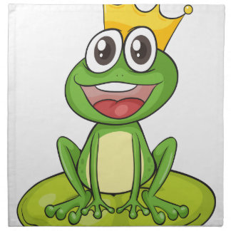 una rana servilleta