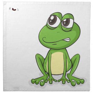 una rana y un insecto servilleta imprimida