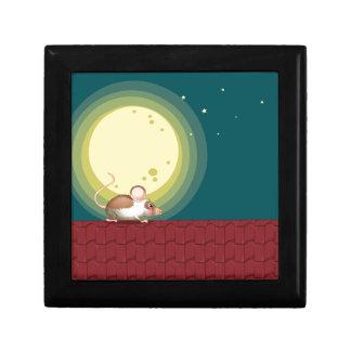 Una rata en el tejado joyero cuadrado pequeño