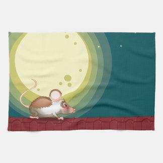 Una rata en el tejado toalla de mano