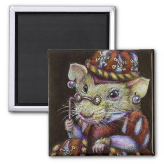 Una rata muy respetable imán cuadrado