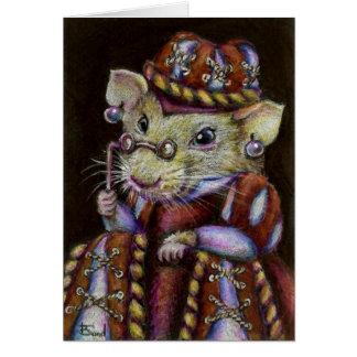 Una rata muy respetable tarjeta de felicitación