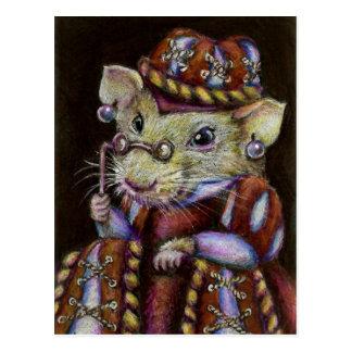 Una rata muy respetable tarjeta postal