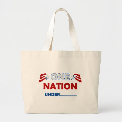 Una raya de la nación bolsa tela grande