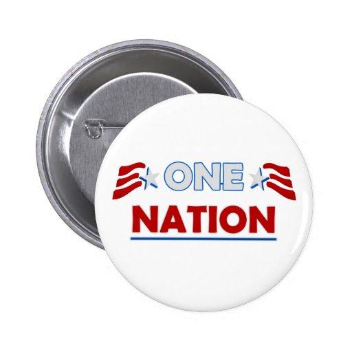 Una raya de la nación pin redondo 5 cm
