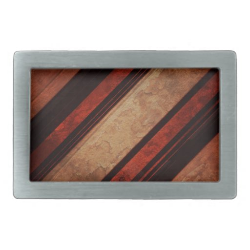 Una raya negra y rojo en un fondo de madera hebillas de cinturon