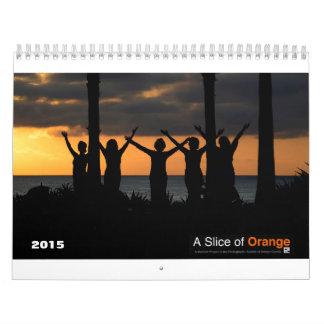 Una rebanada de calendario del naranja 2015