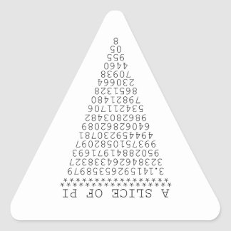 Una rebanada de gráfico del pi pegatina triangular