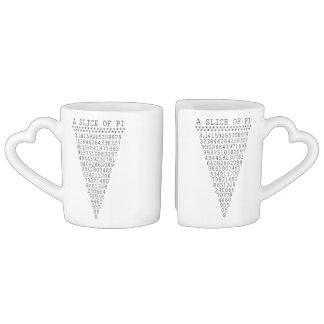 Una rebanada de gráfico del pi set de tazas de café