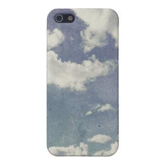 Una rebanada de ilustraciones de la nube del cielo iPhone 5 carcasa